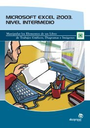 microsoft excel 2003. nivel intermedio - Ideaspropias Editorial