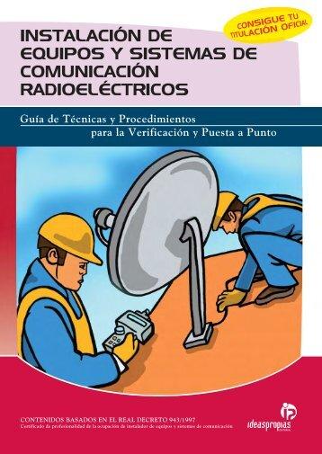 instalación de equipos y sistemas de comunicación radioeléctricos