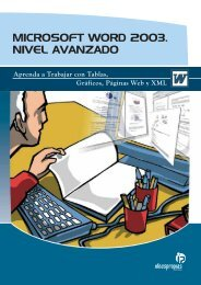 MICROSOFT WORD 2003. NIVEL AVANZADO - Ideaspropias Editorial