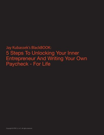 5 Steps To Unlocking Your Inner Entrepreneur And Writing Your ...
