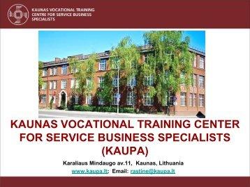 kaunas vocational training center for service business specialists