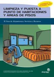 limpieza y puesta a punto de habitaciones y áreas de pisos