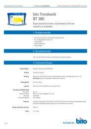 Technisches Datenblatt BT 380 - Bito AG