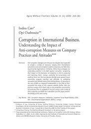 Corruption in International Business.