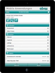 Mobile Anwendungen - ABAS Software AG