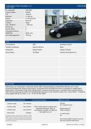 Volkswagen Polo Comfortline 1 2 l 5.500 EUR