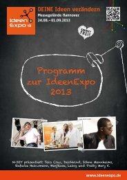 Programm zur IdeenExpo 2013
