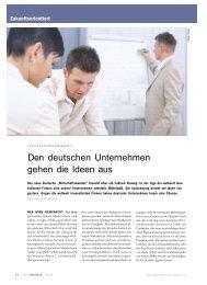 Den deutschen Unternehmen gehen die Ideen aus - Die Ideeologen