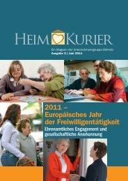 2011 – Europäisches Jahr der Freiwilligentätigkeit