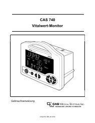 CAS 740 Vitalwert-Monitor