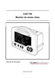 CAS 740 Monitor de sinais vitais