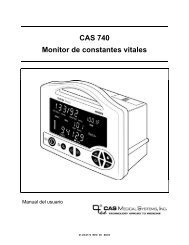 CAS 740 Monitor de constantes vitales