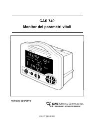 CAS 740 Monitor dei parametri vitali