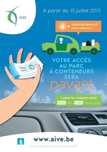 chèques-dépôts dans notre brochure - Idelux