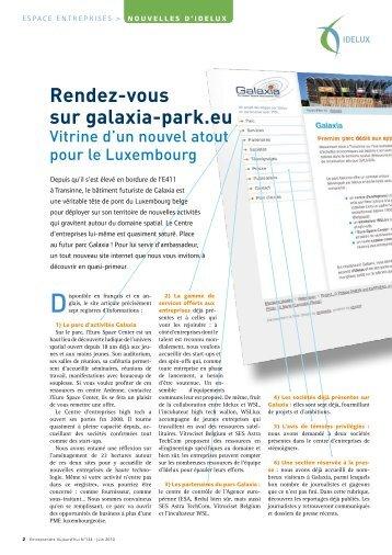 Juin 2010 - Rendez-vous sur galaxia-park.eu (PDF) - Idelux