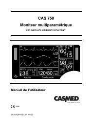CAS 750 Moniteur multiparamétrique