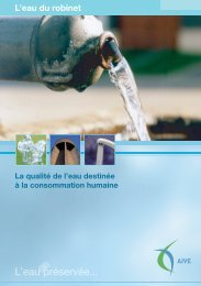 La qualité de l'eau du robinet - Idelux
