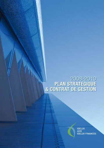 Strategic plan and management contract 2008-2010 - Idelux