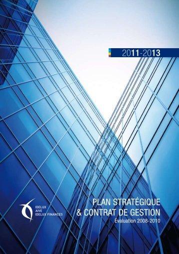Plan stratégique et Contrat de gestion 2011-2013 - Idelux