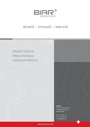 SÉCURITÉ | EFFICACITÉ | SIMPLICITÉ PRODUCT CATALOG - Biar