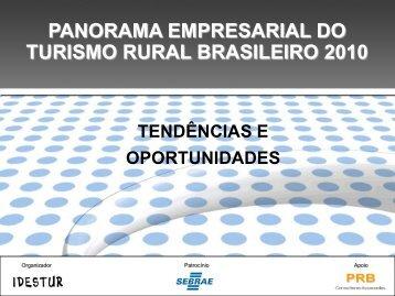 seminário panorama empresarial 2010 - IDESTUR - Instituto de ...