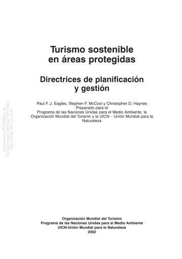 Turismo sostenible en áreas protegidas - IDESTUR - Instituto de ...