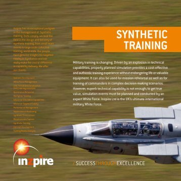 SYNTHETIC TRAINING