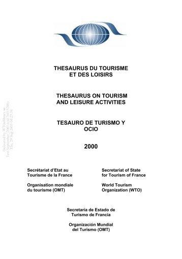 thesaurus du tourisme et des loisirs thesaurus on tourism and ...