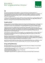 Vergabekriterien Kükenfonds - Bioland