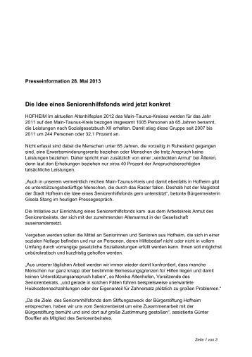 Pressemitteilung Seniorenhilfsfonds am 28.05.2013 PDF-Datei, 85 ...