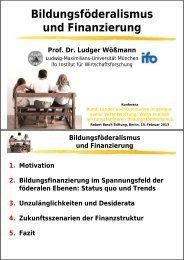 Bildungsföderalismus und Finanzierung (PDF) - Robert Bosch Stiftung
