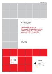 Zehn empfehlungen zum Umgang mit Informationsstrukturen zur ...