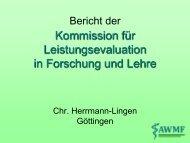 Bericht aus der Ständigen Kommission Leistungsevaluation ... - AWMF