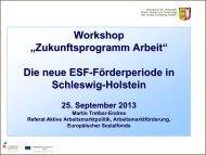 Die neue ESF-Förderperiode in Schleswig-Holstein