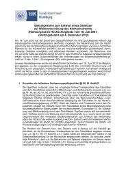 Stellungnahme der HK Hamburg zur HmbHG-Novelle
