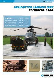 HELICOPTER LANDING MAT TECHNICAL DATA