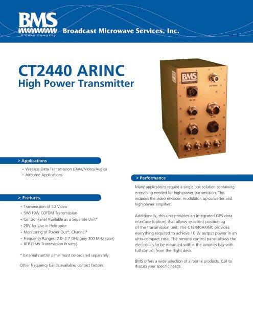 CT2440 ARINC High Power Transmitter
