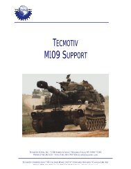 M109 SUPPORT