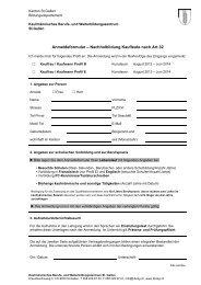 Anmeldeformular – Nachholbildung Kaufleute nach Art.32