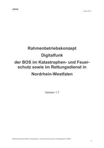 Rahmenbetriebskonzept Digitalfunk der BOS im Katastrophen- und ...