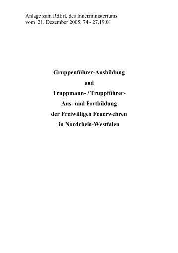 Gruppenführer-Ausbildung und Truppmann- / Truppführer- Aus- und ...