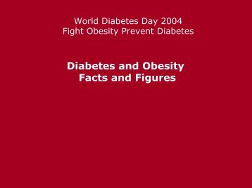 Diabetes and Obesity Facts and Figures