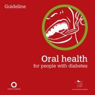 Guideline on oral health for people with diabetes - International ...