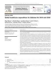 Global healthcare expenditure on diabetes for 2010 ... - ResearchGate