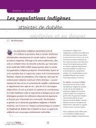 Les populations indigènes atteintes de diabète : négligées et en ...