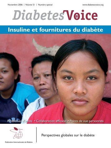 Insuline et fournitures du diabète - International Diabetes Federation
