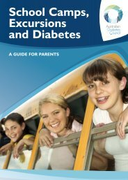School Camps, Excursions and Diabetes