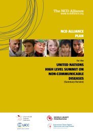 NCD Alliance Plan for the UN Summit