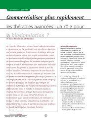 Commercialiser plus rapidement les thérapies avancées : un rôle ...