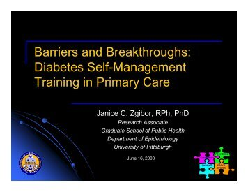 Diabetes Self-Management Training in Primary Care - International ...